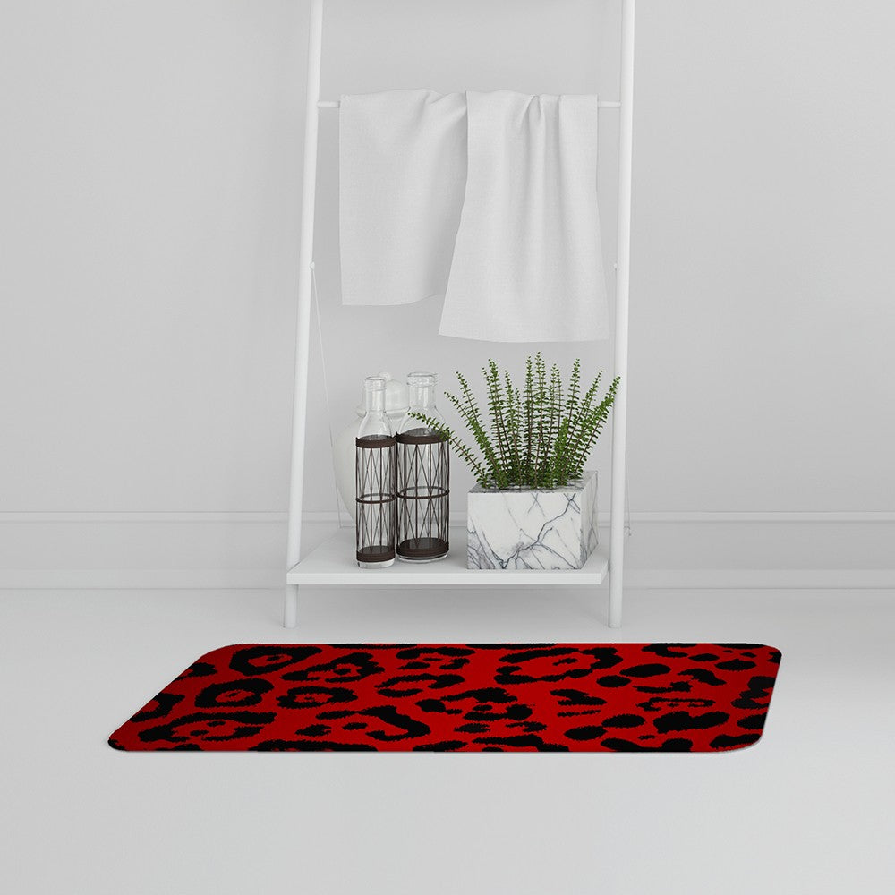 New Product Red Leopard Print (Bath Mat)  - Andrew Lee Home and Living