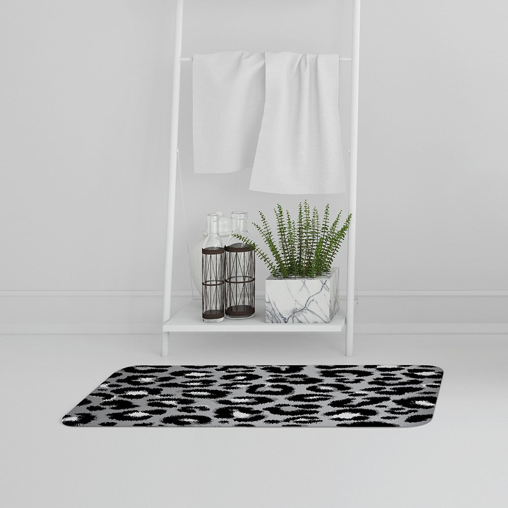 New Product Silver Leopard Print (Bath Mat)  - Andrew Lee Home and Living