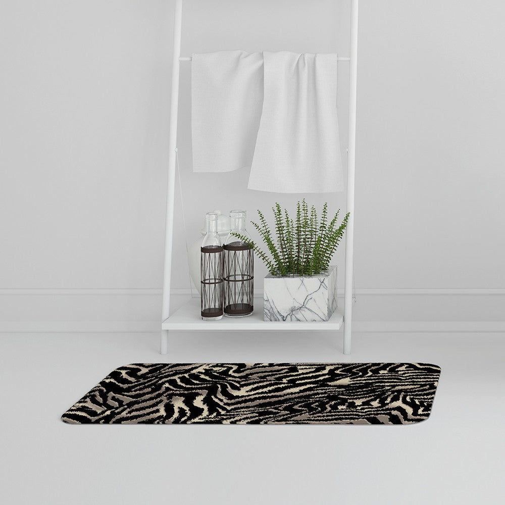New Product Gold Zebra Print (Bath Mat)  - Andrew Lee Home and Living