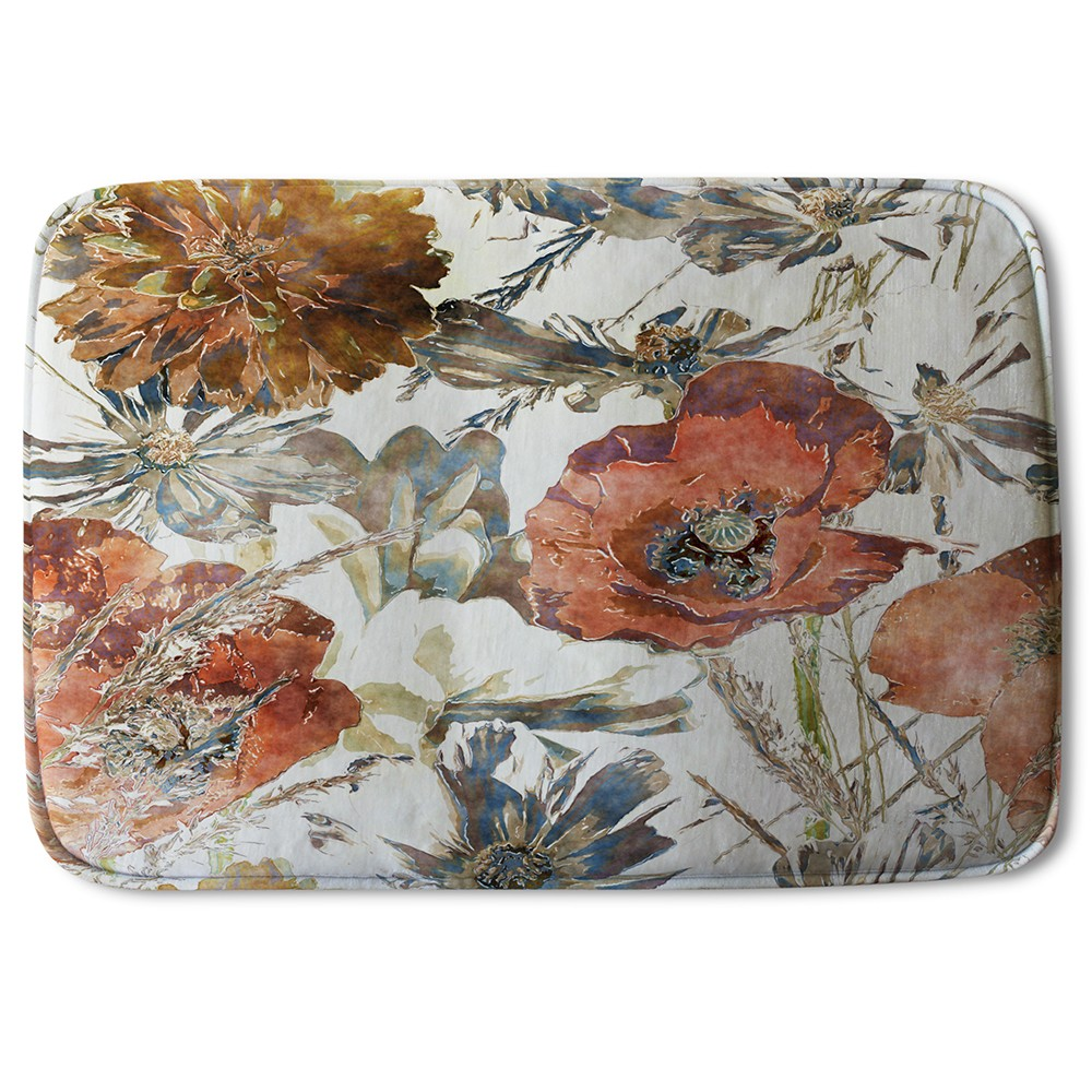 New Product Watercolour Flower Print (Bath Mat)  - Andrew Lee Home and Living