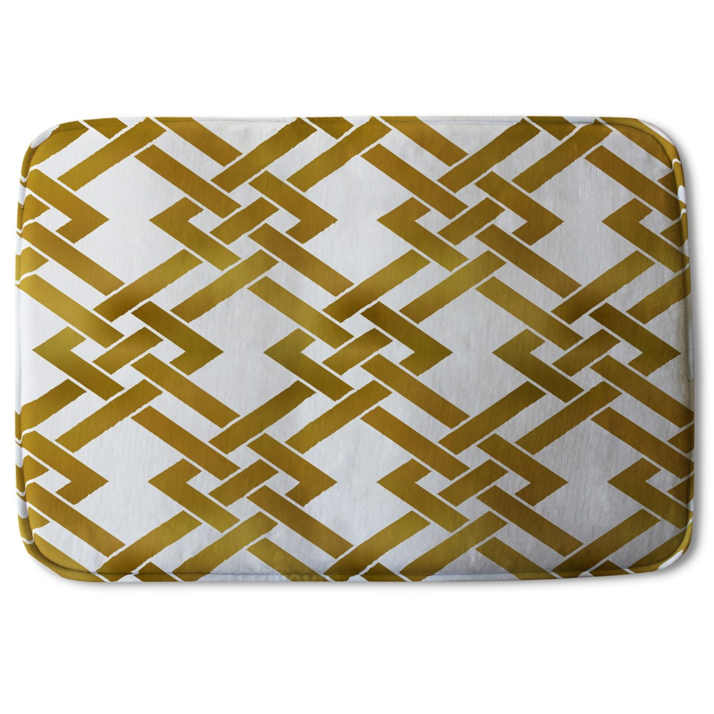 New Product Gold Geometric Chain (Bath Mat)  - Andrew Lee Home and Living