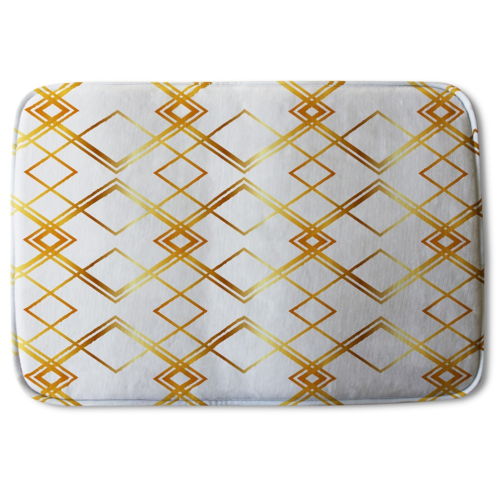 New Product Geometric Golden Pattern (Bath Mat)  - Andrew Lee Home and Living