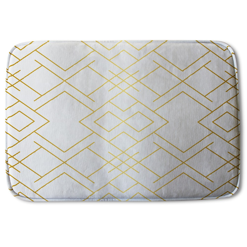 New Product Golden Geo Pattern (Bath Mat)  - Andrew Lee Home and Living