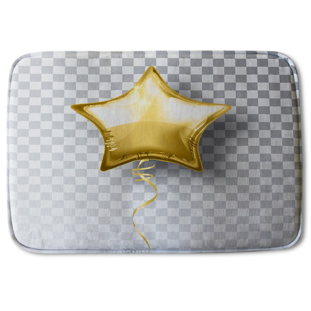 New Product Golden Star Balloon (Bath Mat)  - Andrew Lee Home and Living