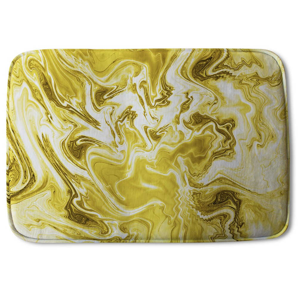 New Product Golden Swirled Marble (Bath Mat)  - Andrew Lee Home and Living