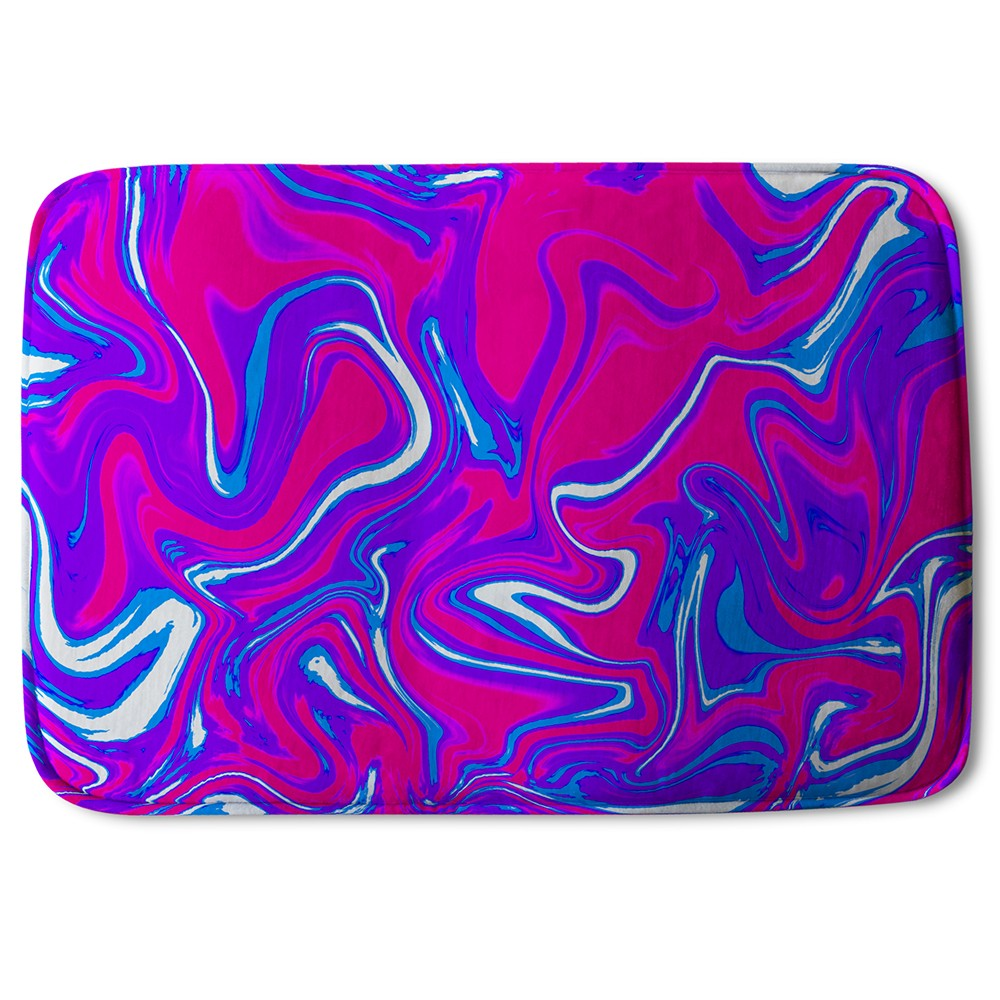 New Product Pink & Blue Marble (Bath Mat)  - Andrew Lee Home and Living