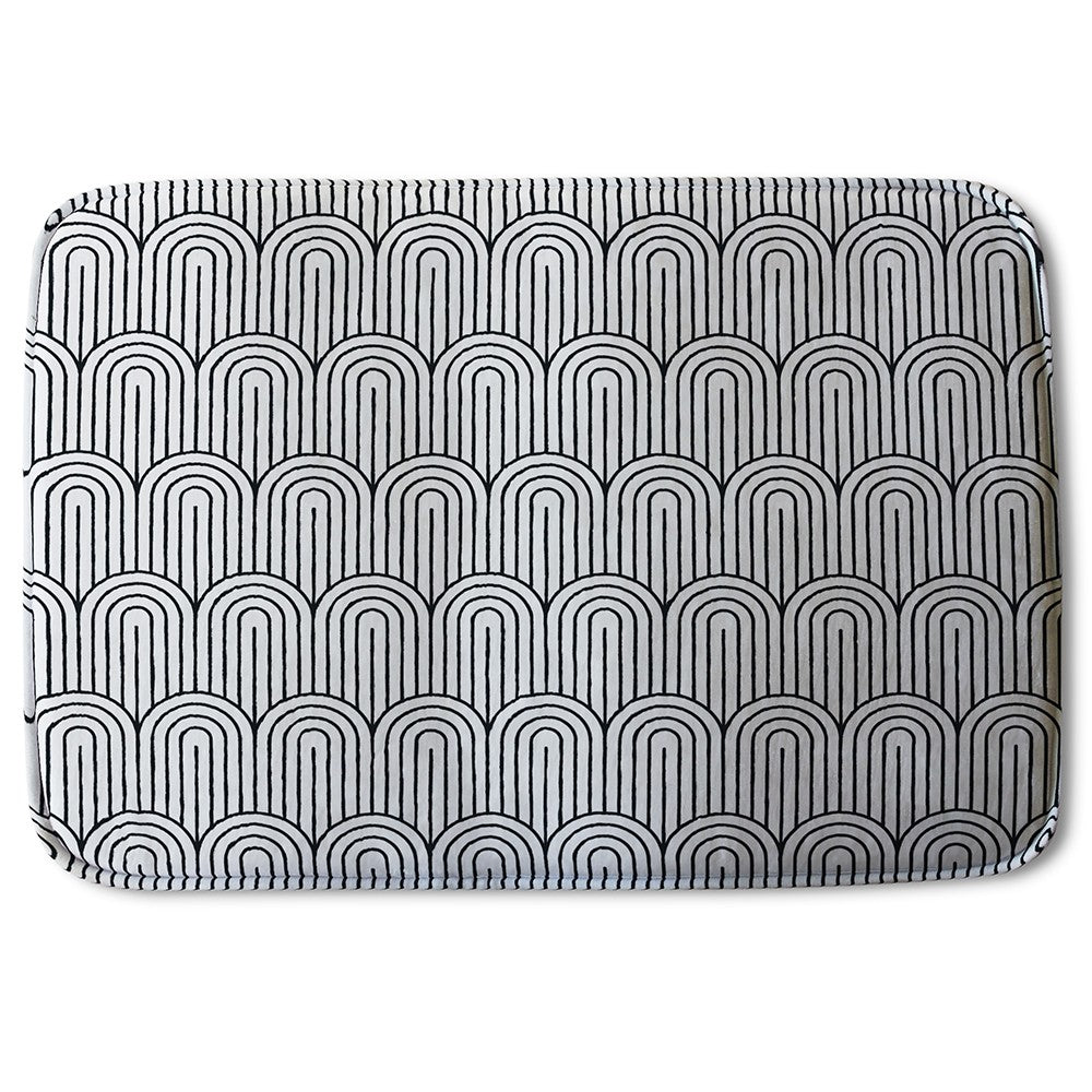 New Product Geometric Curves (Bath Mat)  - Andrew Lee Home and Living