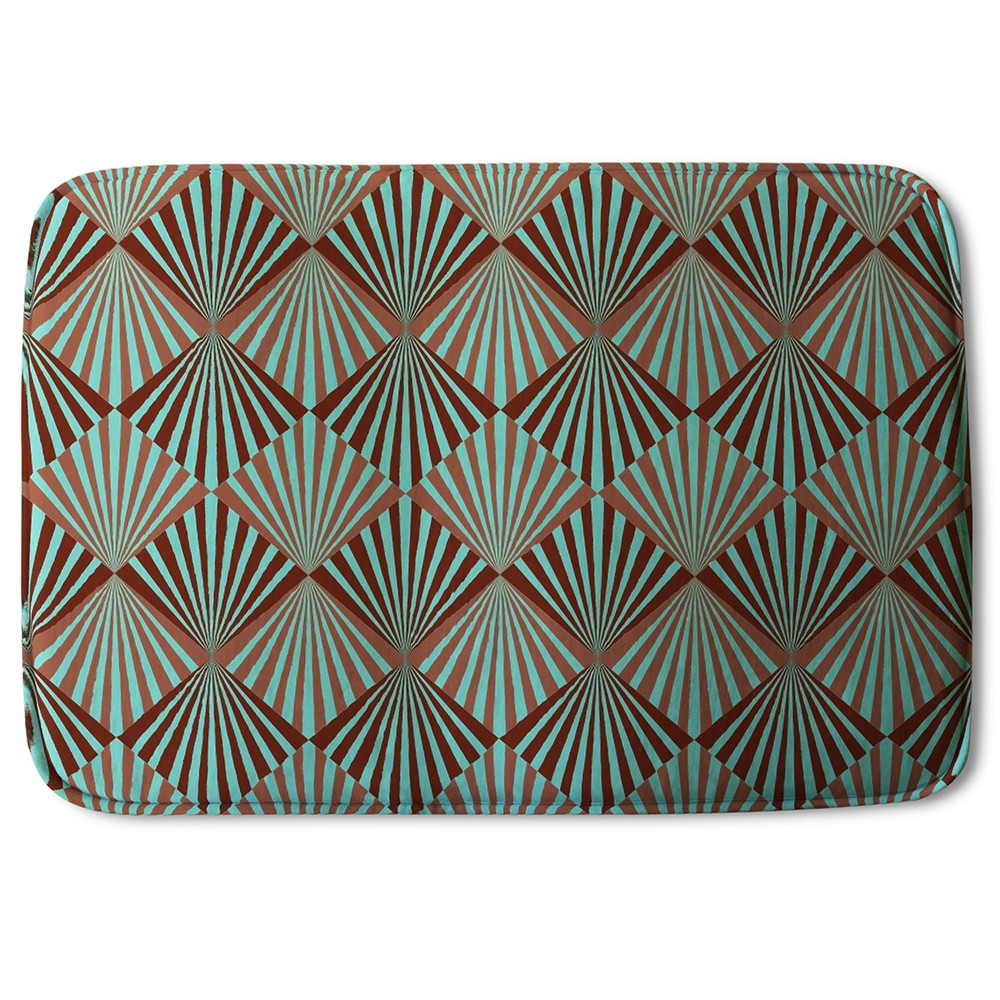 New Product Green Geometric Rays (Bath Mat)  - Andrew Lee Home and Living