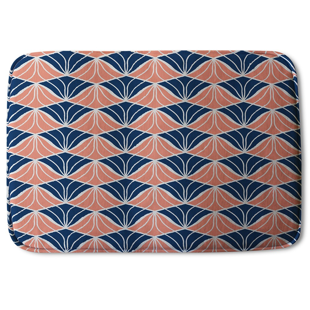 New Product Navy & Pink Geometric Shells (Bath Mat)  - Andrew Lee Home and Living