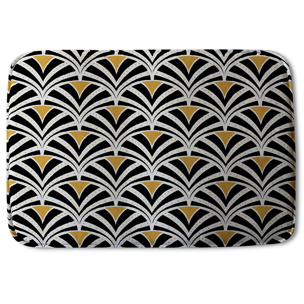 New Product Black & Gold Shells Geometric (Bath Mat)  - Andrew Lee Home and Living