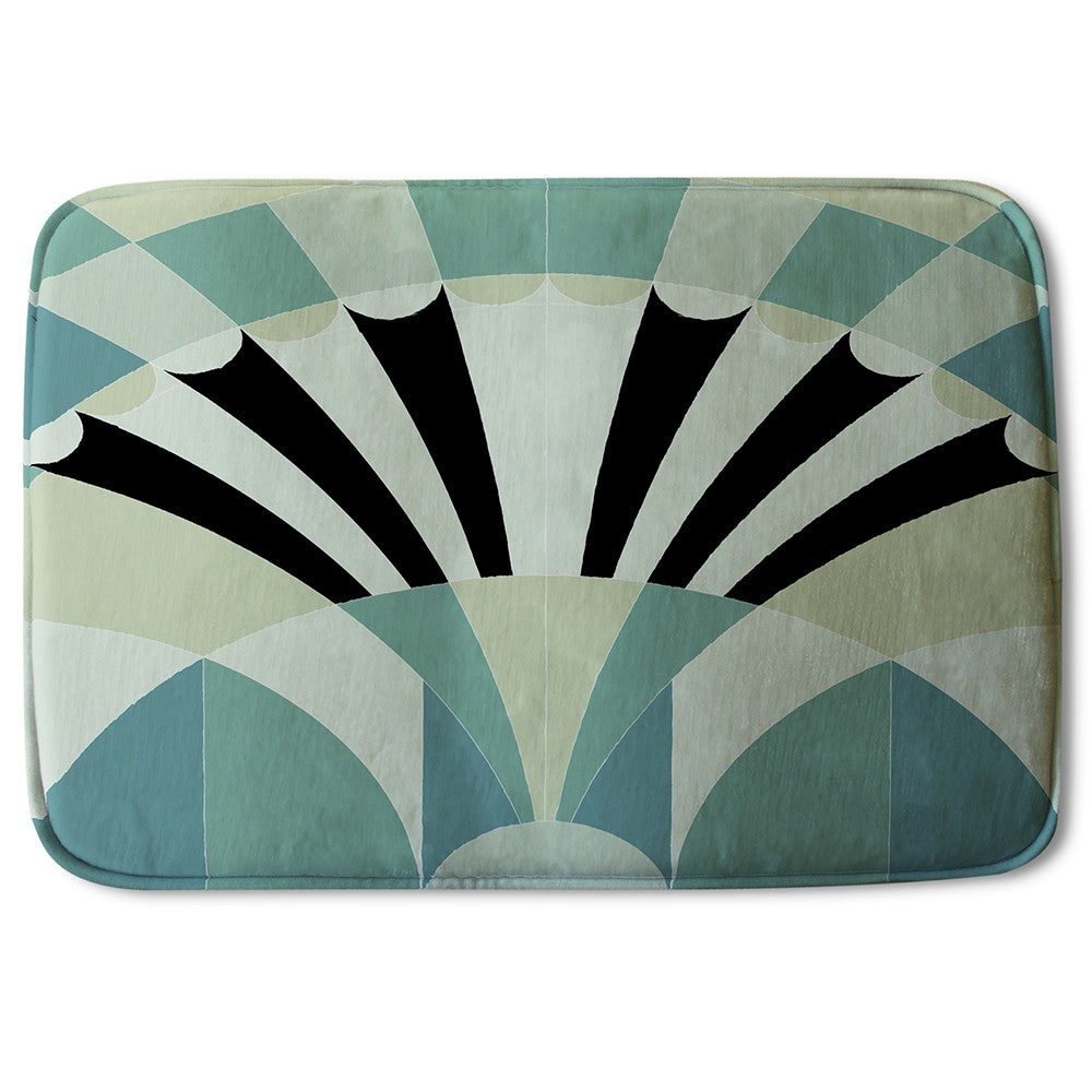 New Product Green Geo Arches (Bath Mat)  - Andrew Lee Home and Living