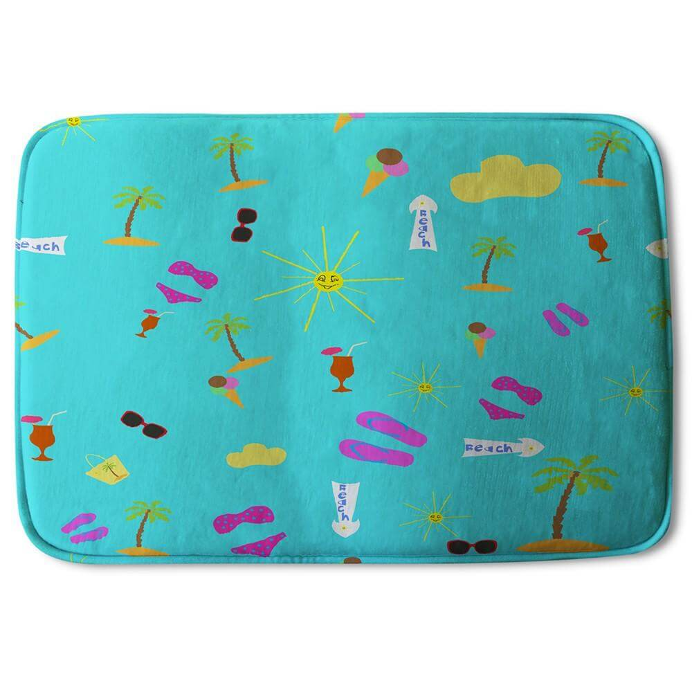 New Product Beach Cartoons (Bath Mat)  - Andrew Lee Home and Living