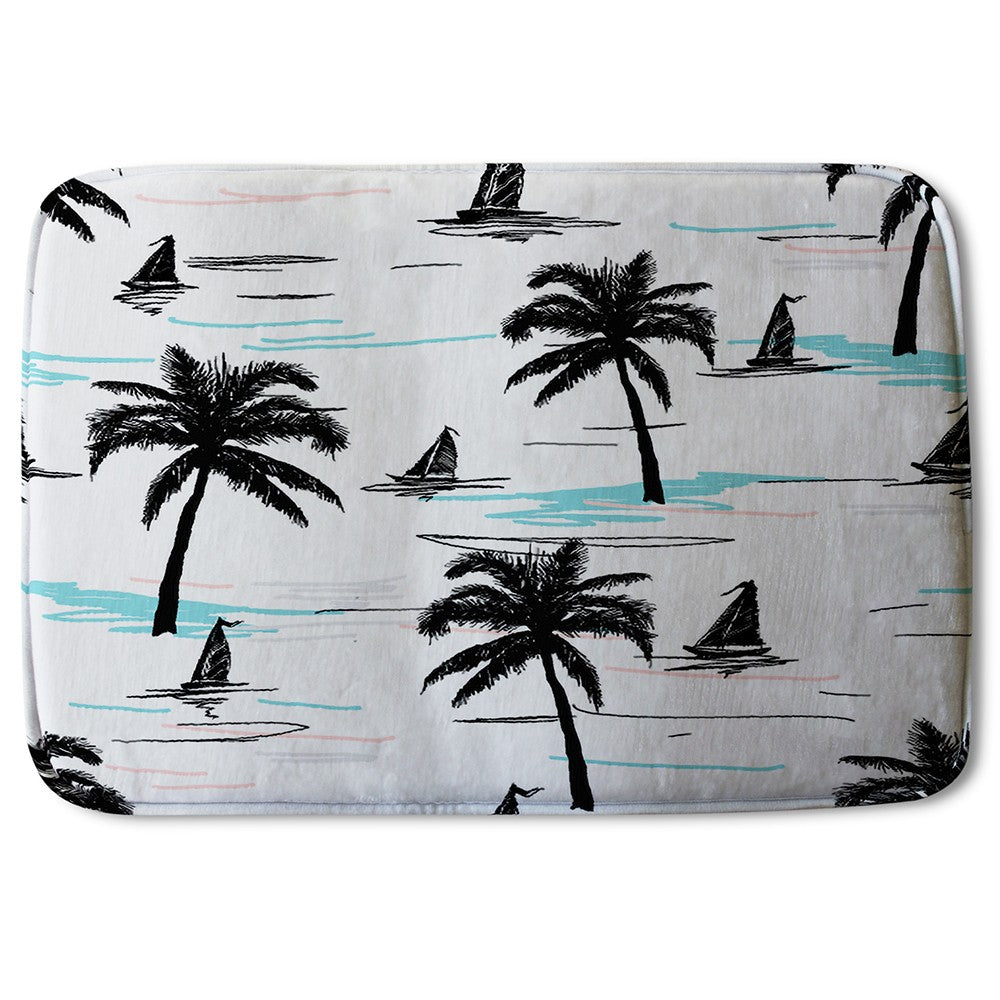 New Product Palm Trees & Sailboats (Bath Mat)  - Andrew Lee Home and Living