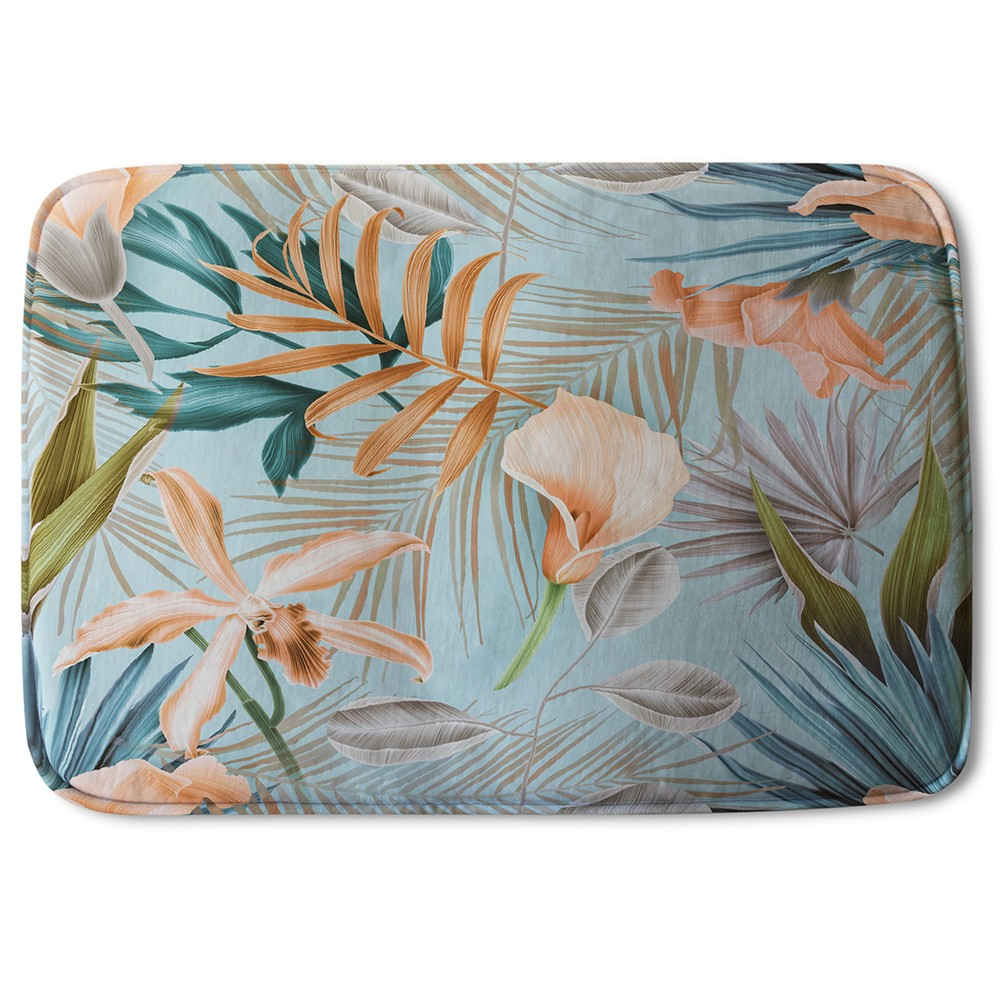 New Product Pink Tropical Flowers (Bath Mat)  - Andrew Lee Home and Living
