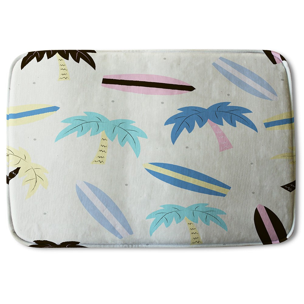 New Product Surf Boards & Palm Trees (Bath Mat)  - Andrew Lee Home and Living