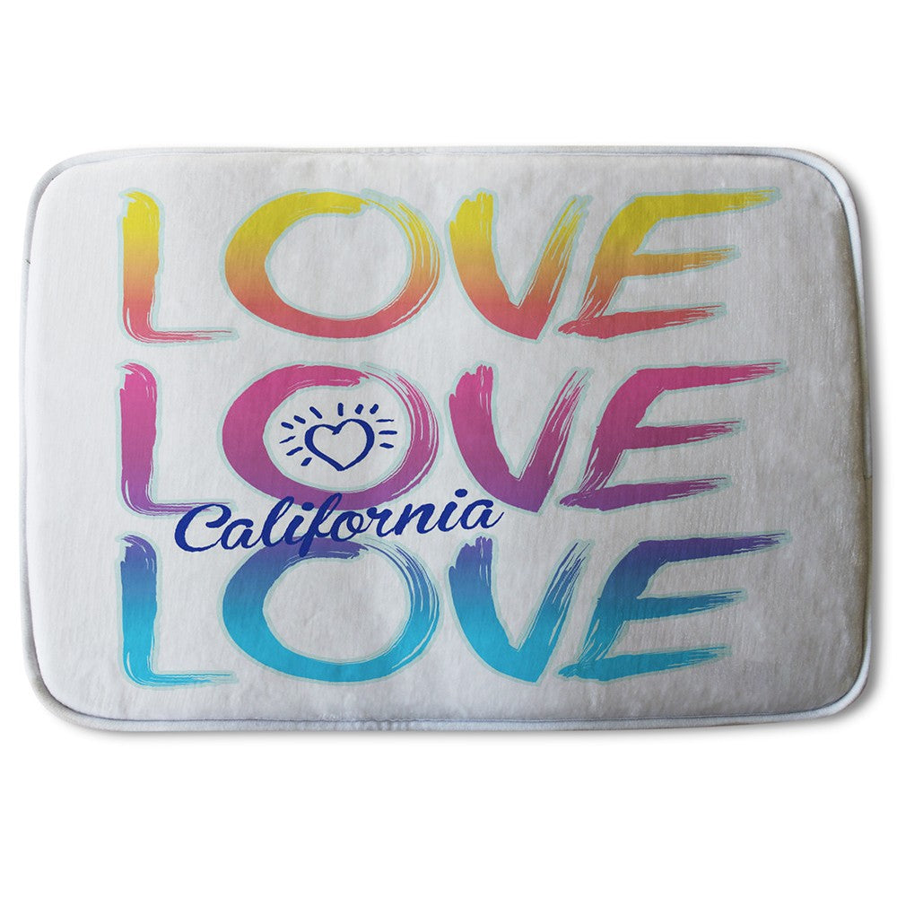 New Product Love California (Bath Mat)  - Andrew Lee Home and Living