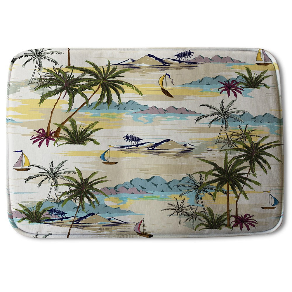 New Product Palm & Sailboats (Bath Mat)  - Andrew Lee Home and Living