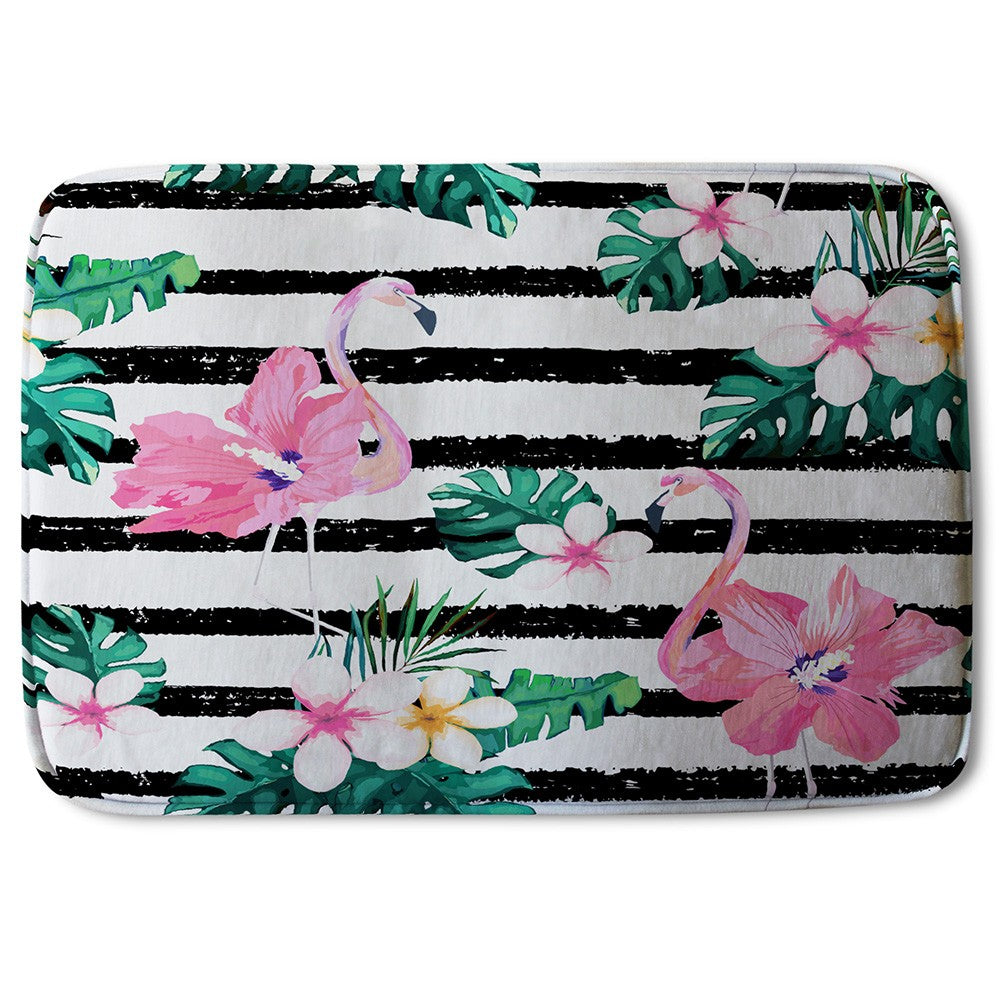New Product Floral Flamingos (Bath Mat)  - Andrew Lee Home and Living
