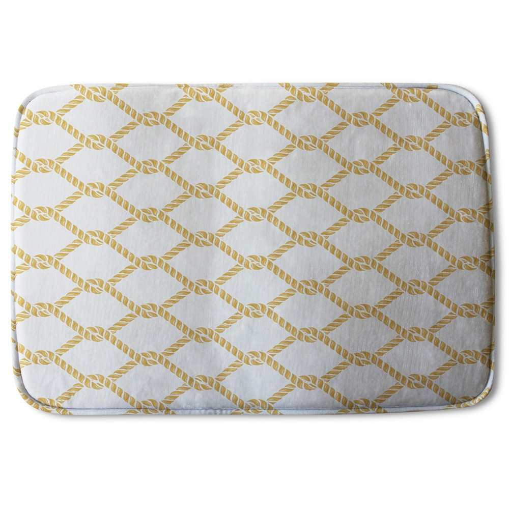 New Product Gold Chainlink Rope (Bath Mat)  - Andrew Lee Home and Living