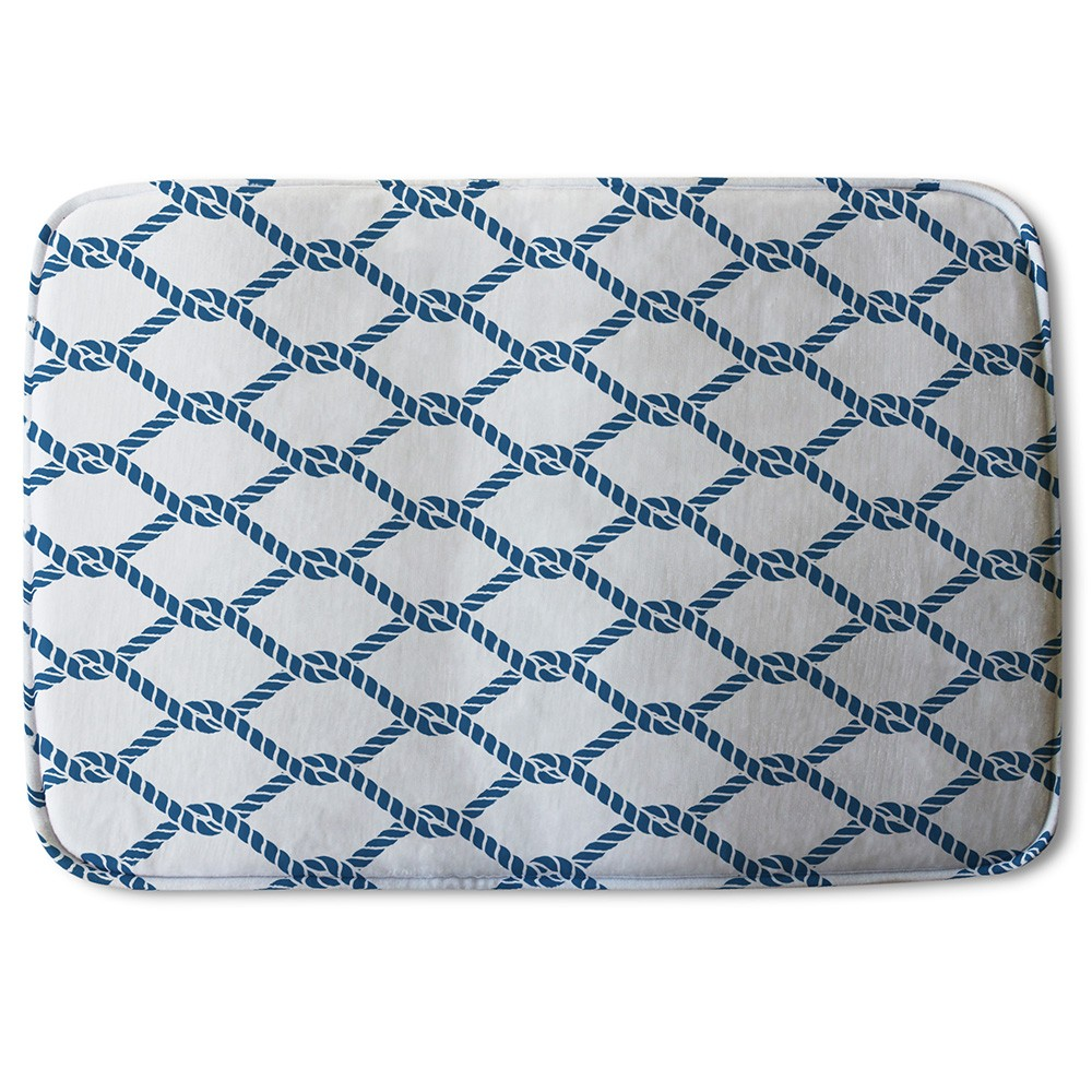 New Product Navy Chainlink Rope (Bath Mat)  - Andrew Lee Home and Living