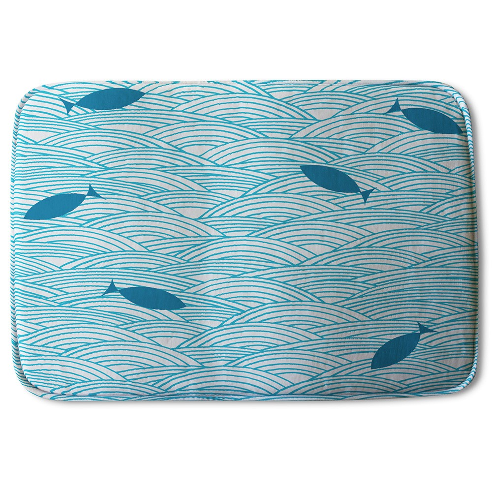 New Product Waves & Fish (Bath Mat)  - Andrew Lee Home and Living