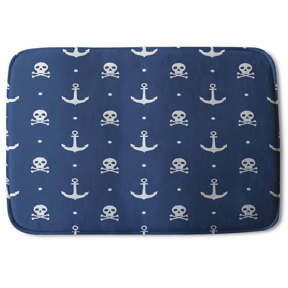 New Product Anchor with Skull & Bones (Bath Mat)  - Andrew Lee Home and Living