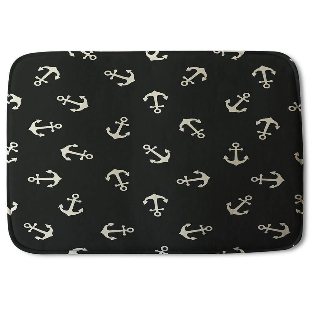 New Product Anchors on Black Background (Bath Mat)  - Andrew Lee Home and Living