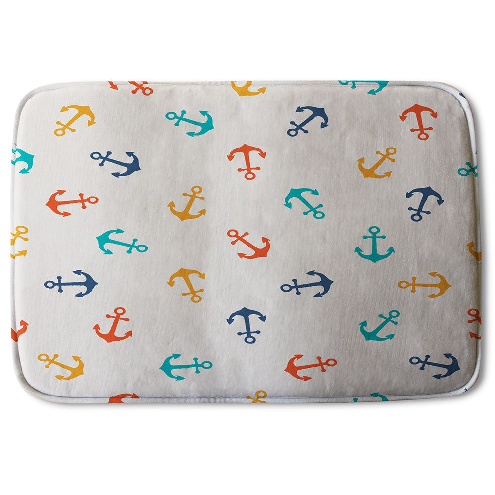 New Product Multi Coloured Anchors (Bath Mat)  - Andrew Lee Home and Living