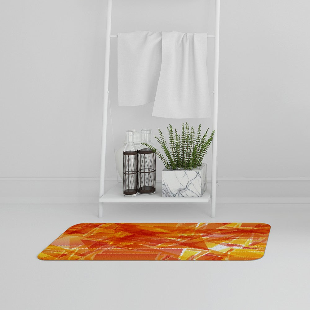 New Product Orange Geometric (Bath Mat)  - Andrew Lee Home and Living