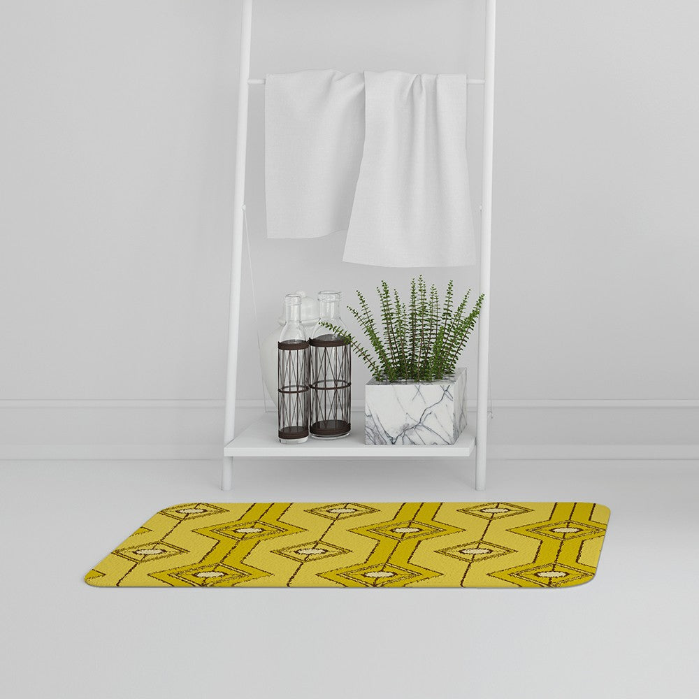 New Product Yellow Geometric (Bath Mat)  - Andrew Lee Home and Living