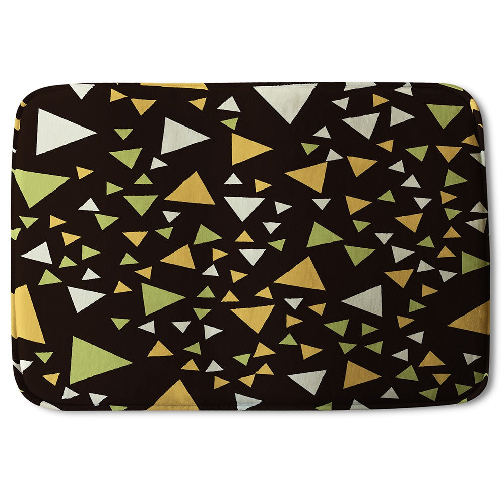 New Product Yellow Green Triangles (Bath Mat)  - Andrew Lee Home and Living
