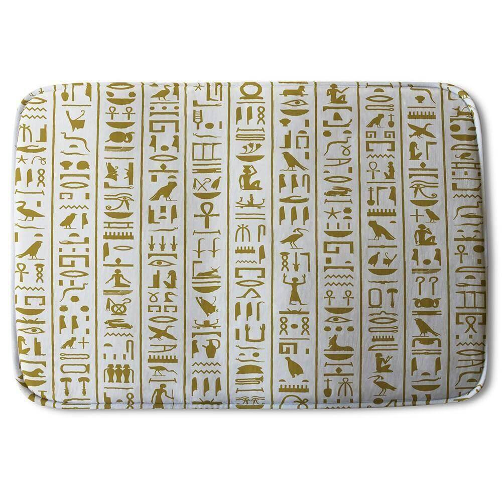 New Product Acient Egyptian Heiroglyphs (Bath Mat)  - Andrew Lee Home and Living