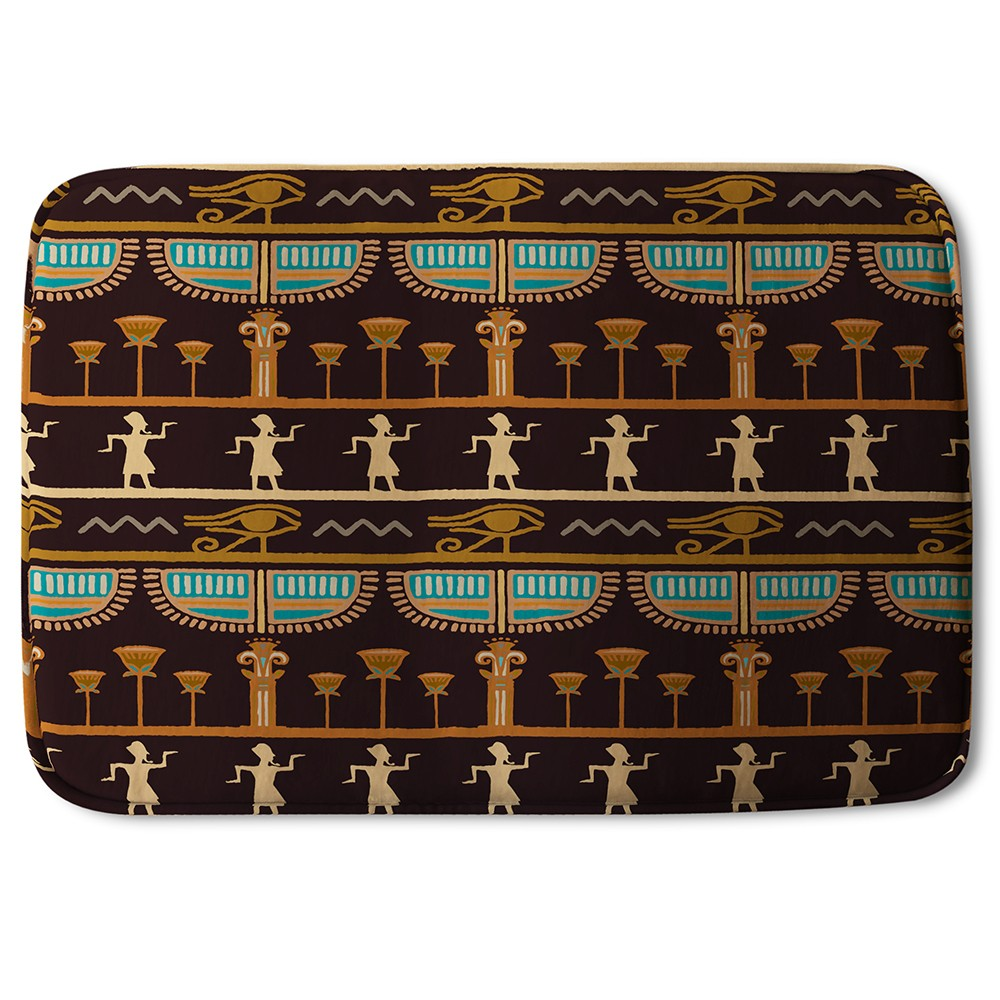 New Product Orange & Black Hieroglyphs (Bath Mat)  - Andrew Lee Home and Living
