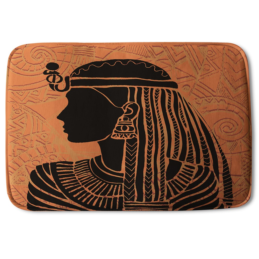 New Product Egyptian Women on Orange (Bath Mat)  - Andrew Lee Home and Living