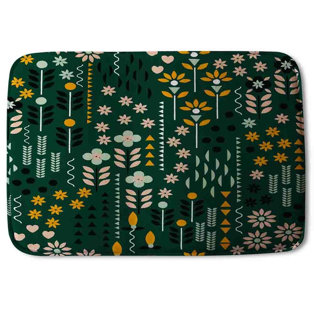 New Product Selection of Flowers Print (Bath Mat)  - Andrew Lee Home and Living