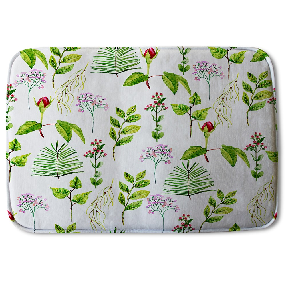 New Product Selection of LEaves & Flowers (Bath Mat)  - Andrew Lee Home and Living