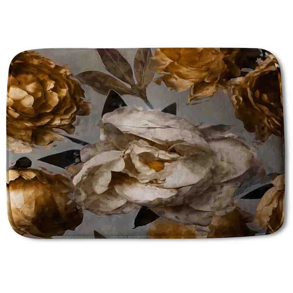 New Product Golden White Flower (Bath Mat)  - Andrew Lee Home and Living