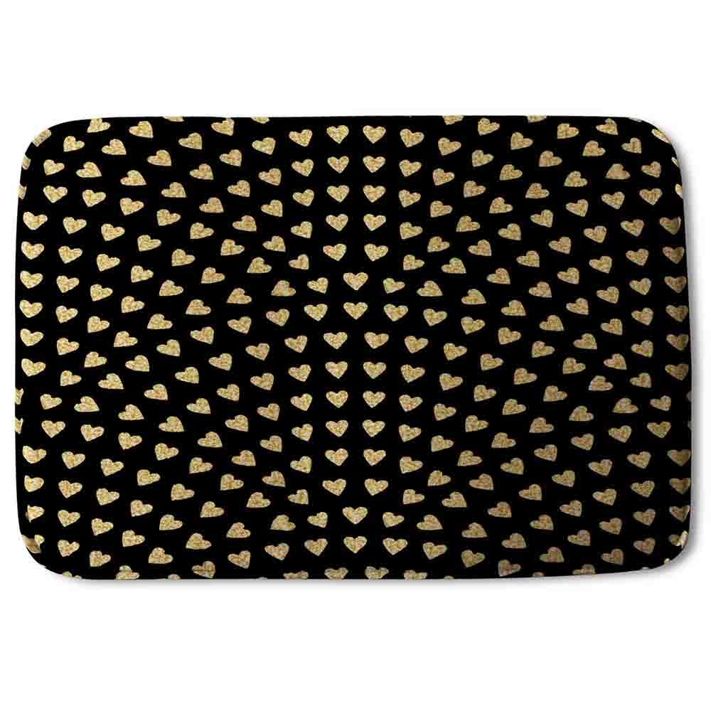 New Product Geometric Glitter Love Hearts (Bath Mat)  - Andrew Lee Home and Living
