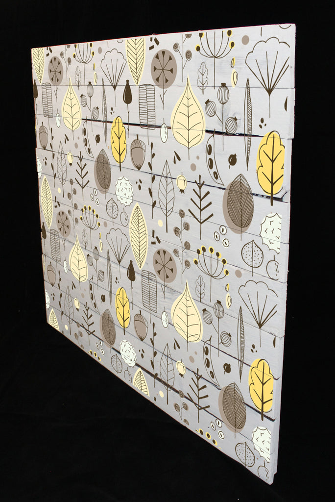 New Product Scandinavian autumn with leaves, seeds and berries (Reclaimed white wood)  - Andrew Lee Home and Living