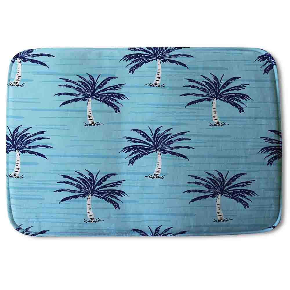 New Product Palm Trees on Blue (Bathmat)  - Andrew Lee Home and Living