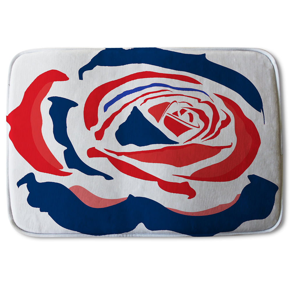 New Product Red & Blue Rose Print (Bathmat)  - Andrew Lee Home and Living