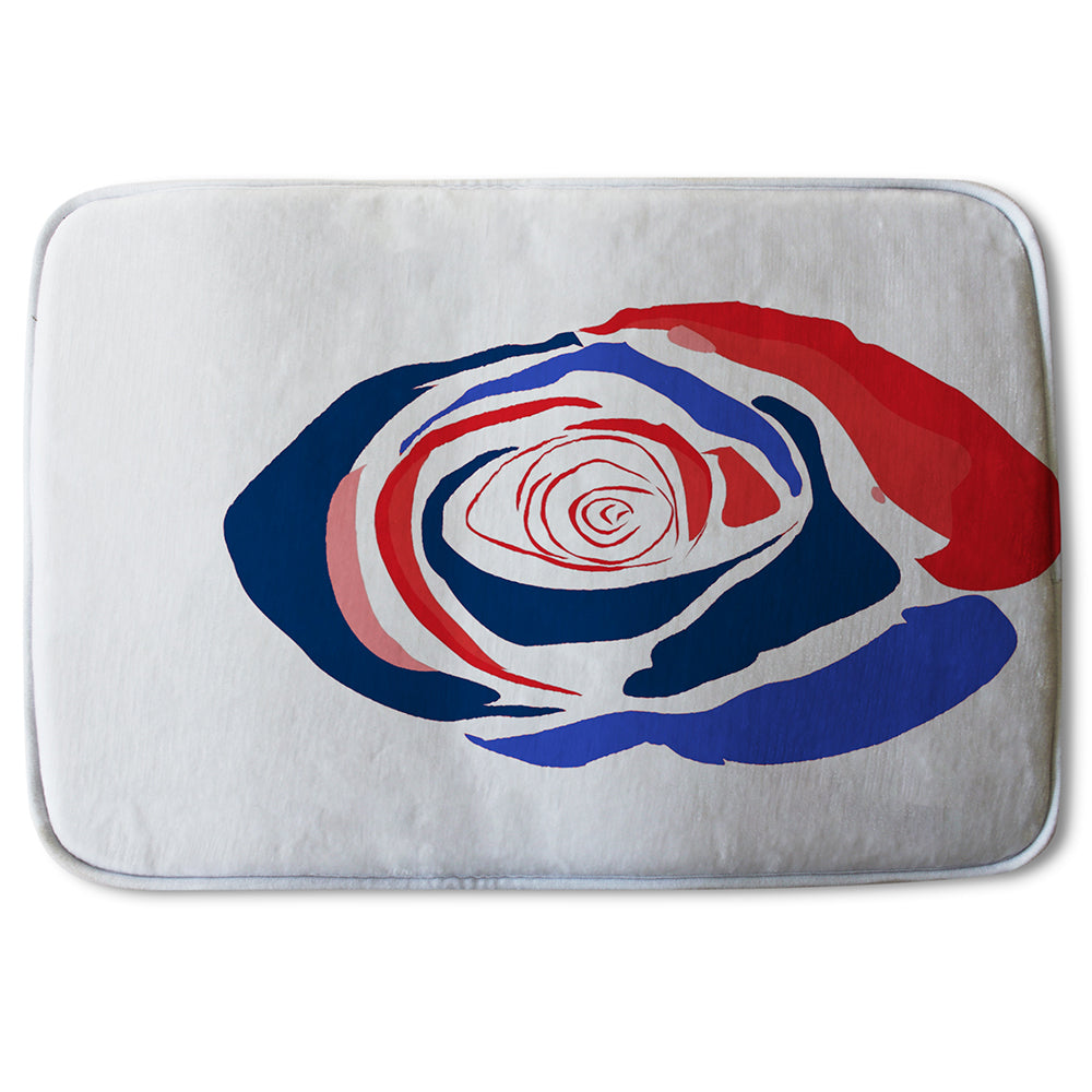 New Product Red & Blue Rose (Bathmat)  - Andrew Lee Home and Living