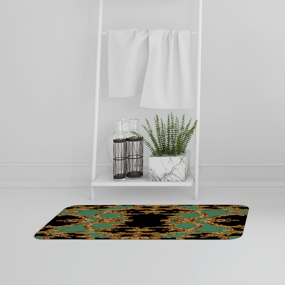 New Product Black & Green Baroque (Bathmat)  - Andrew Lee Home and Living