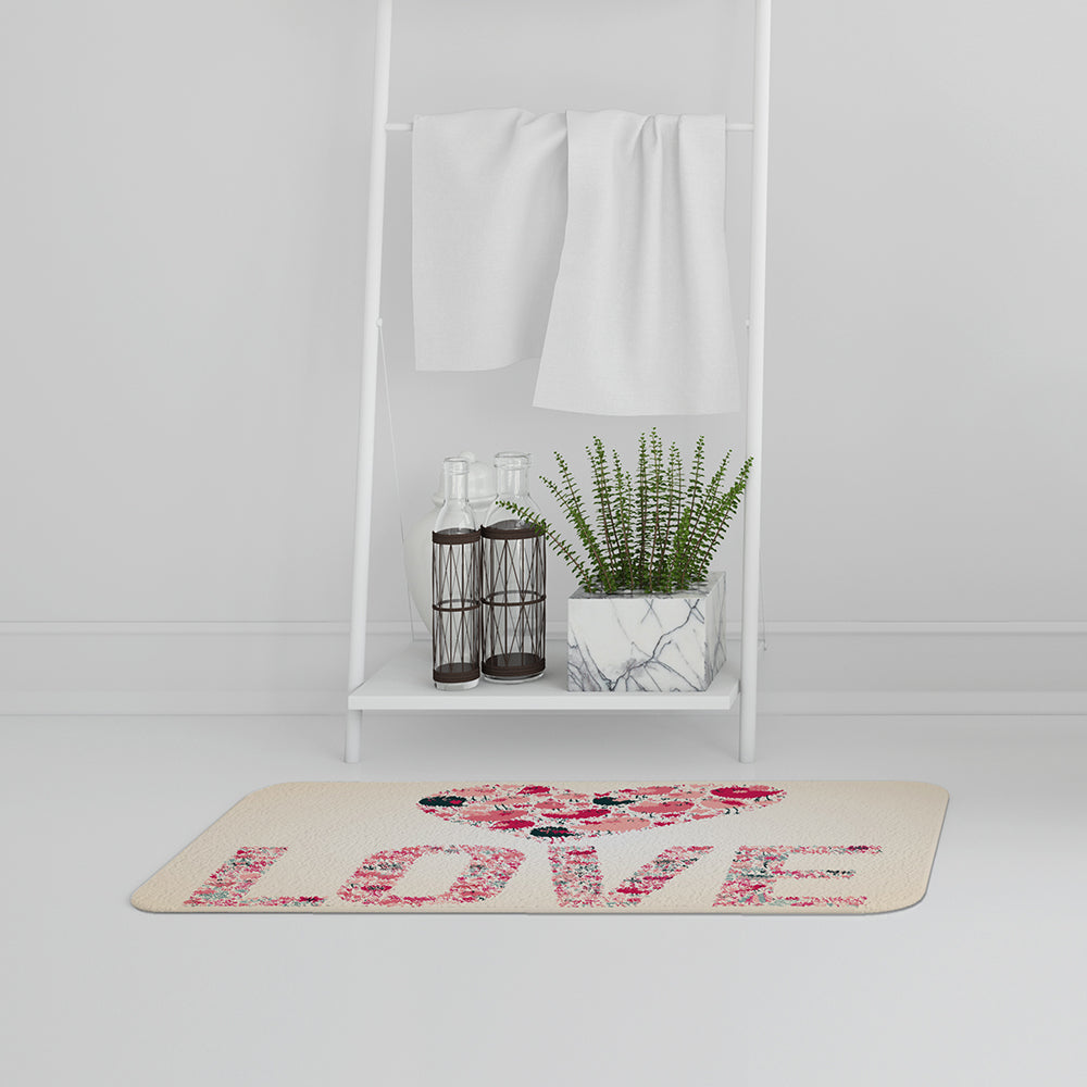 New Product Love Hearts (Bathmat)  - Andrew Lee Home and Living