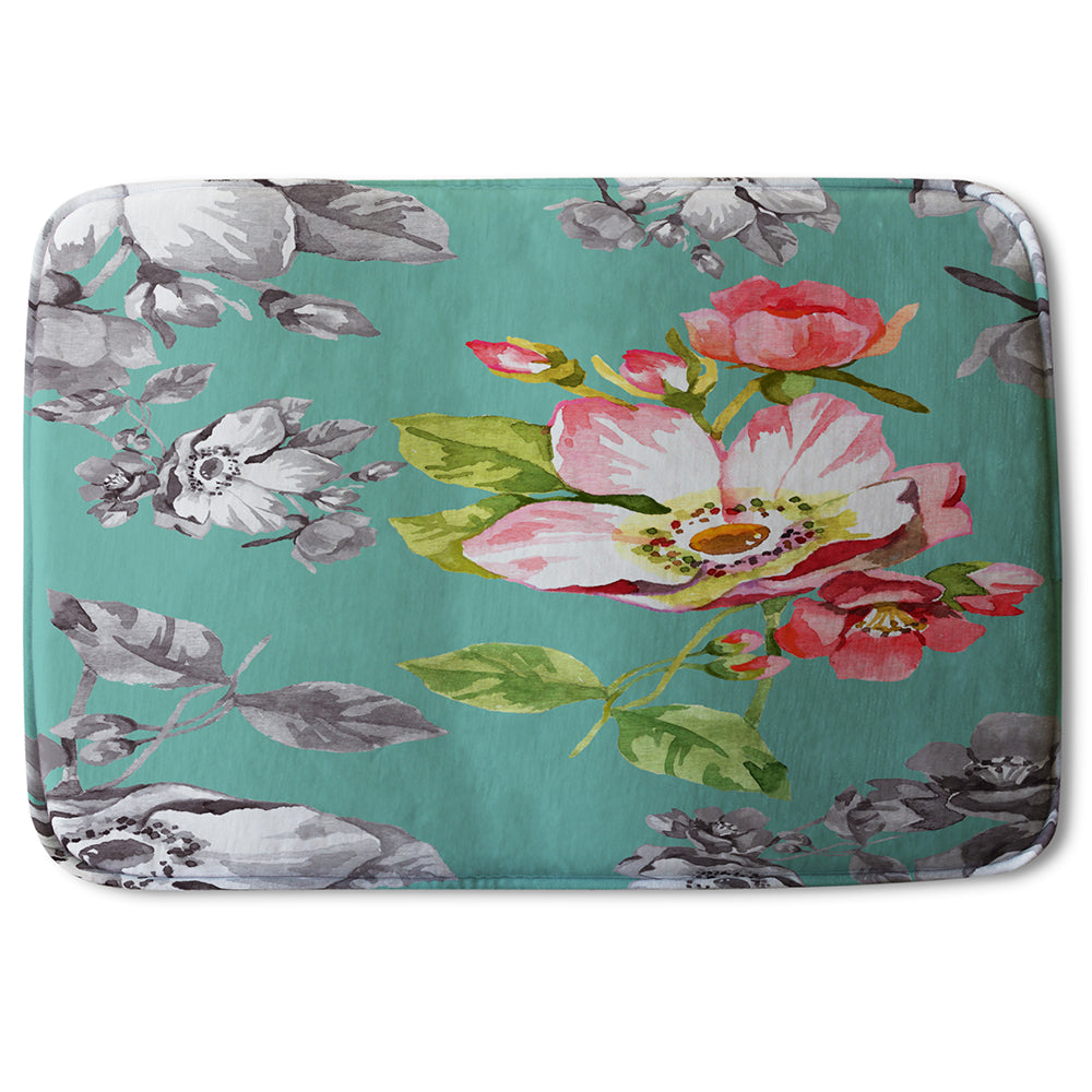 New Product Bright Flower on Green (Bathmat)  - Andrew Lee Home and Living