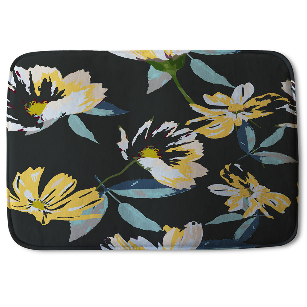 New Product Yellow Flowers on Green (Bathmat)  - Andrew Lee Home and Living