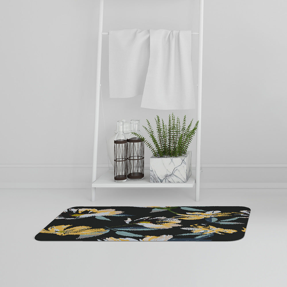 Bathmat - New Product Yellow Flowers on Green (Bath mats)  - Andrew Lee Home and Living