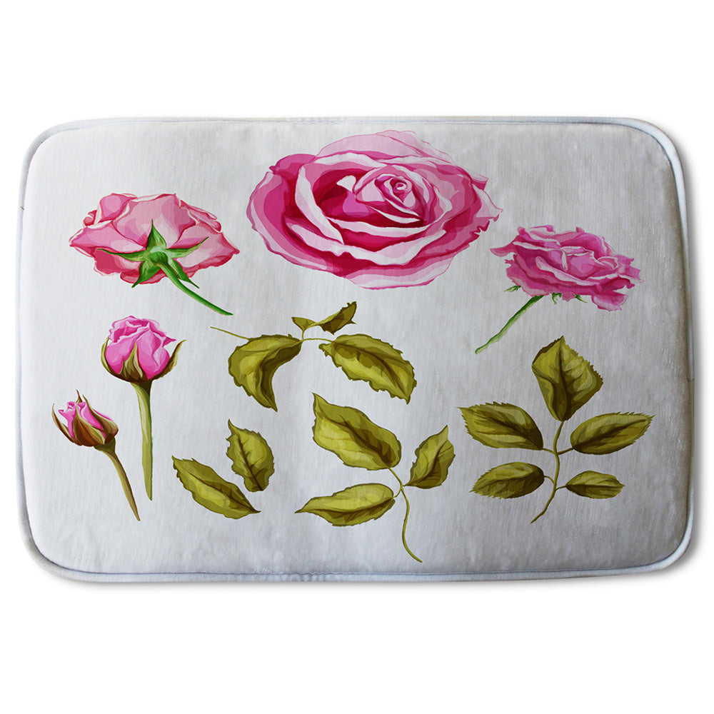 New Product Roses & Leaves (Bathmat)  - Andrew Lee Home and Living
