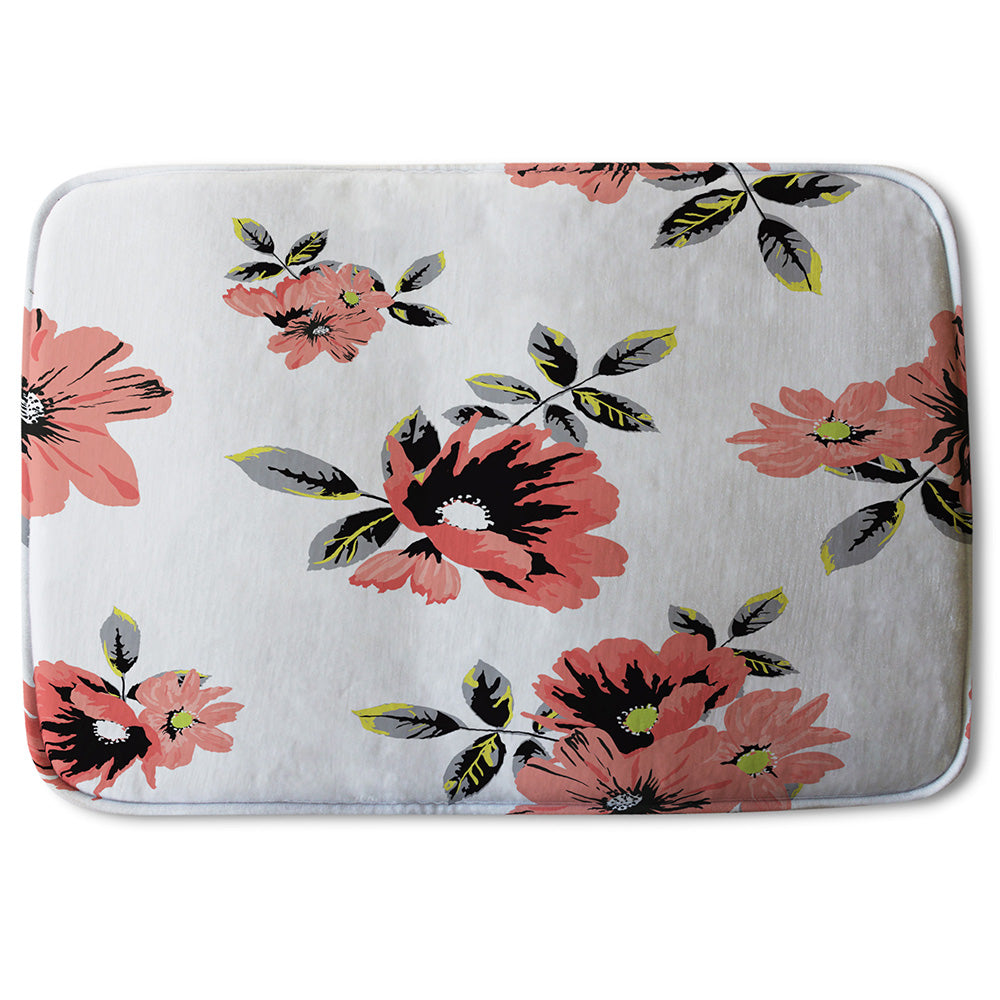 New Product Pink Flowers (Bathmat)  - Andrew Lee Home and Living