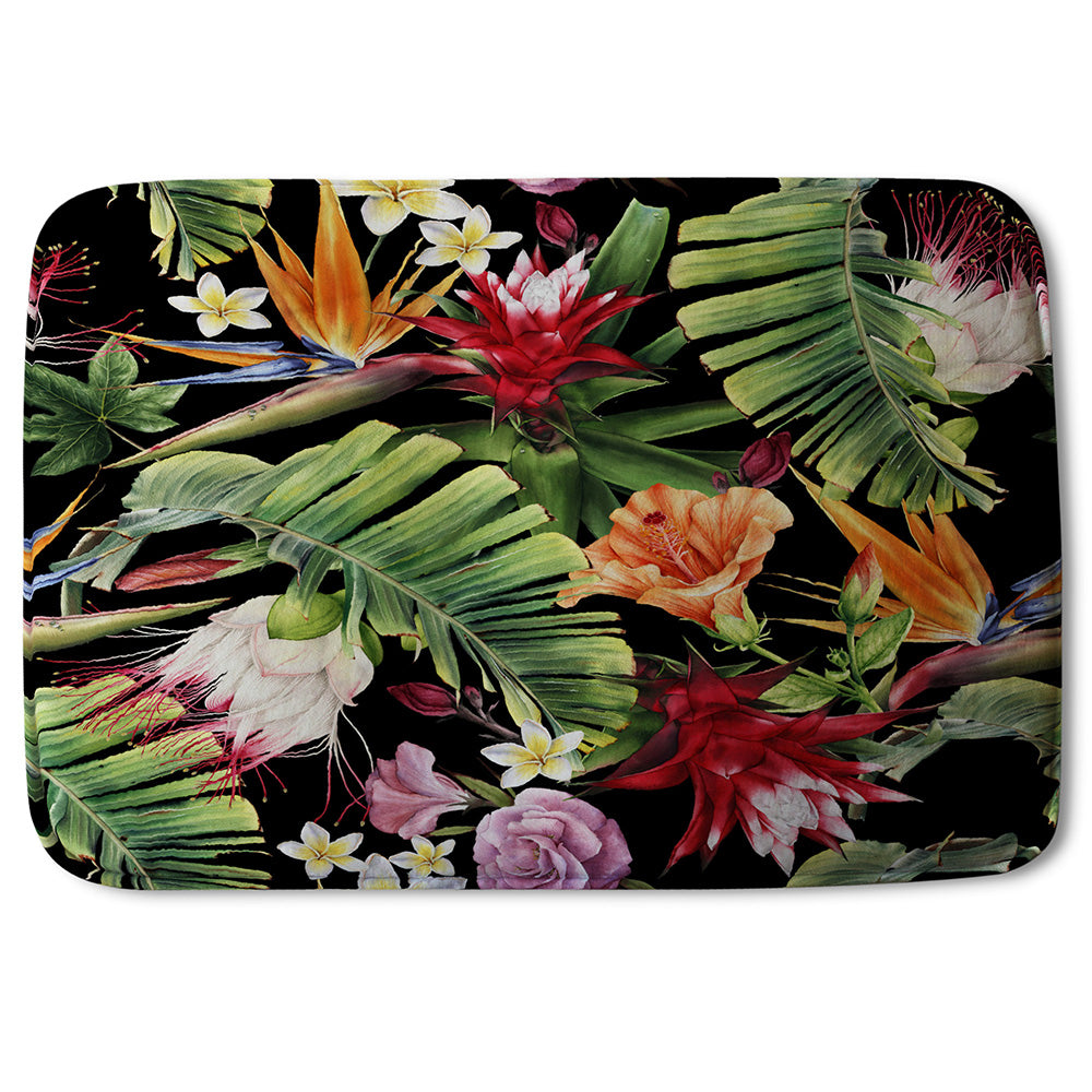 New Product Tropical Flowers & Plant Leaves (Bathmat)  - Andrew Lee Home and Living